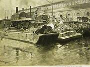 Street Cleaning Dept. East River Dump 1891 Print Matted