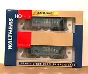 Walthers Gold Line Ho 932-27414 Greenville 100 Ton Twin Hoppers 2-pack Nib