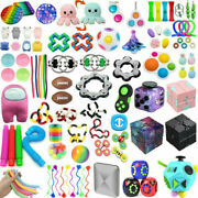 100 Pack Fidget Sensory Toys Set Stress Relief Anxiety Toy Kids Autism Relief