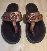 Tom Ford Menandrsquos Sandals Shoes Size 8 Like 9 Braided Hand Made 1600