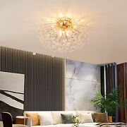 Modern Crystal Chandelier Fireworks Pendant 8 Heads Ceiling Lamp Fixture Max 40w