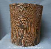 16.8 Chinese Huanghuali Wood Carving Dynasty Ghost Eyes Pencil Vase Brush Pot
