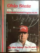 Ohio State Minnesota Offical Football Program 1983 With Schedule Card + Ticket