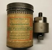 Vintage Greenlee Knock-out 1 5/32 No. 730 Round Radio Chassis Punch With Box