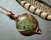 Turquoise Copper Wire Wrapped Pendant Jewelry