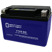 Mighty Max Ytx9-bs Lithium Battery Replaces Snowmobile Mowers Pwc Watercraft