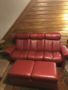Ekornes-stressless Couch And Ottoman