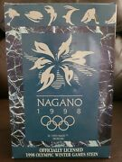 Anheuser-busch Nagano 1998 Olympic Winter Games Ceramic Olympics Stein Cs350 New