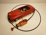 Tin Toy Arnold Germany Red Primat Car With Driver - Working Condition