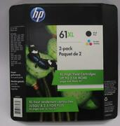 Genuine Hp 61xl Original Black And Color Ink Cartridge Combo Exp 06 And03922.