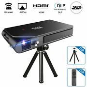 Pico Size 3d Projector Dlp Home Theater Wifi Mirascreen Airplay Movie Wireless