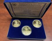 Ncmand039s 1907 1933 Gold Double Eagle Proof Set W/ 2 In .999 Silver