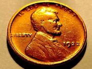 1922 No D Lincoln Cent Die 2 Strong Reverse Nice Au