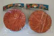 Vintage Retro Wicker Paper Plate Holders Color Rattan 2 Nos Sets Of 4