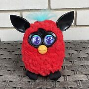 2012 Hasbro Furby Black Cherry Red Working Interactive Electronic Pet Toy Video