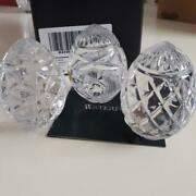 Waterford 3pcs Small Crystal Eggs ....preowned  W/box