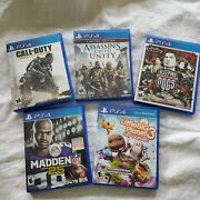 Ps4 Game Lot Of 5 Call Of Duty Assassins Creed Sleeping Dogs Madden 25