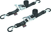 Powertye 1 1/2in. Ratchet With Safety Latch Hooks 30572-s Black