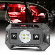 Red White Car Accessory Interior Led Dome Map Door Lights Kit W/switch Trunk Utv
