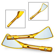 Rearview Side Mirror Left And Right Aluminum Fit Suzuki Gsxr 600 750 1000 Gsf Gold