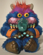 Amtoy My Pet Monster 24 Plush Stuffed Animal Toy, Vintage 1986 With Handcuffs