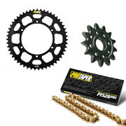 Pro Taper Mx 15/51 Sprocket Kit Black With 520 X-ring Chain 120l 033363and033208