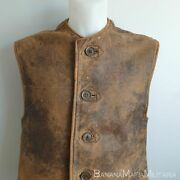 Ww2 British Uniform Leather Jerkin 1941 Dated And Nice Condition