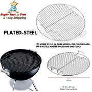 Weber Replacement Charcoal Grate Grill For 22 1/2 Cooking Grate Angled Handles