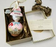 Waterford Christmas Ornament Holiday Heirlooms Pink Duck Girl Heaven Hearts Gold
