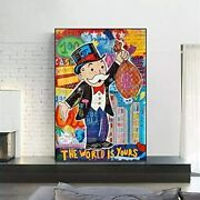Alec Monopoly Graffiti Art Money Posters Or Framed Canvas Wall Art