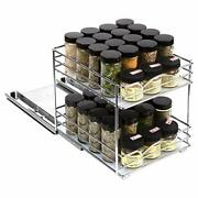 Pull Out Spice Rack Organizer For Cabinet Andndash Heavy Duty Slide Out Double Rack 8 -