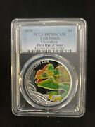 Cook Islands 2020 Magnificent Life Chameleon Pr70dcam First Day Of Issue