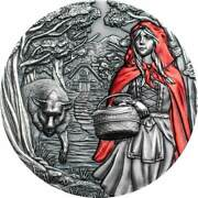 Cook Islands Fairy Tales Little Red Riding Hood 2019 3oz Slvr. Coin 20 Au