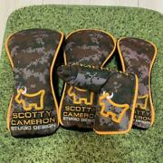 Scotty Cameron Camouflage Bulldog Covers Putter Rare Limited To 200 Japan F/s