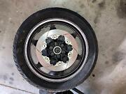 1985 1986 Honda Vf1000r Front Wheel With Dunlop Tire And Brake Rotors