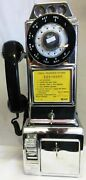 Northern Electric Chrome Pay Telephone 1950and039s Fully Restored