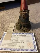 1978 Early Signed Tom Clark Gnome Forest Gnome Edition 71 With Coa
