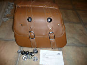 Indian Scout Genuine Oem Tan Leather Saddlebags Complete 15-21 W Spools Latches