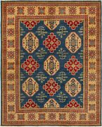 Vintage Hand-knotted Carpet 7and03910 X 9and0399 Traditional Oriental Wool Area Rug