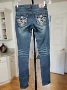 Machine Nouvelle Mode Womenand039s Distressed Jeans Bling Studded W27 Inseam 32 Nice