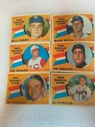 6 Card Lot Of 1960 Tops Sport Magazine Rookie Star Baseball Cards