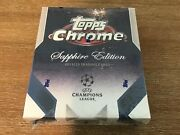 2019-20 Topps Chrome Uefa Champions League Soccer Sapphire Factory Sealed Box