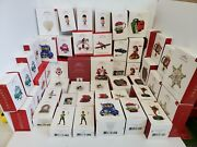 Lot Of 50 Hallmark Keepsake Ornament 2018-2017 Collectable New With Tags In Box