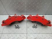 2006-2013 Corvette C6 Z06 Calipers Brakes Painted Red Front 6 Piston