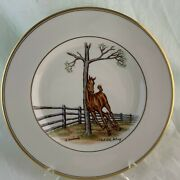 Abercrombie Fitch Vintage Equestrian Foal Horse Dinner Plate Vosmansky Signed C