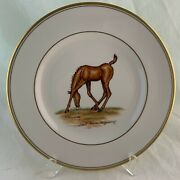 Abercrombie Fitch Vintage Equestrian Foal Horse Dinner Plate Vosmansky Signed B