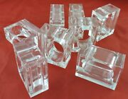 Napkin Rings/small Bud Vase In One Clear Lucite Set 8 Two's Company