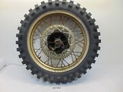 02502 Yamaha It 465 Oem Rear Wheel Rim And Tire W/ Brake Assembly And Axle 1982 Cf