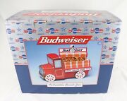 New In Box Budweiser Collectible Snack/cookie Jar Truck Wagon By Unesco 1999