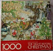 Vintage Springbok Twas The Night Before Christmas Puzzle 1000 Pcs Clement Moore
